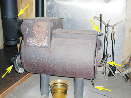 water tank wood stove - 12 Homemade Wood Burning Stoves And Heaters Plans And Ideas:Do It