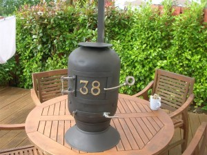 homemade wood stove made from scrap