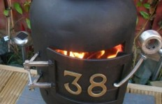 Homemade wood stove