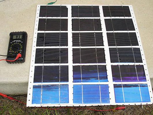 DIY solar panels with damaged solar cells