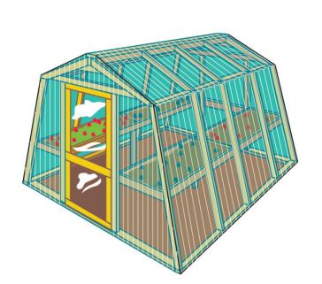 Fiberglass Panels greenhouse