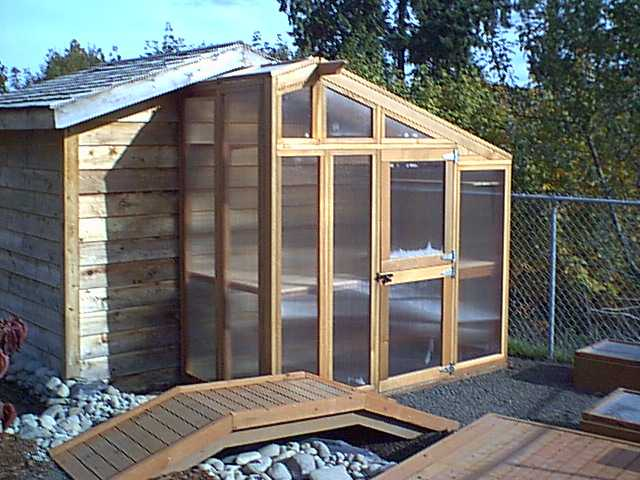 Lean-To Greenhouse Plan