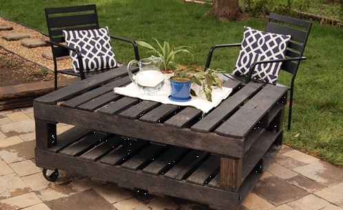 pallet table - Garden Ideas Using Pallets