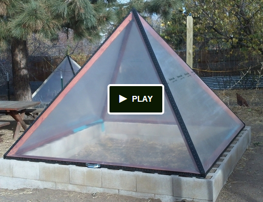 Pyramid shape greenhouse