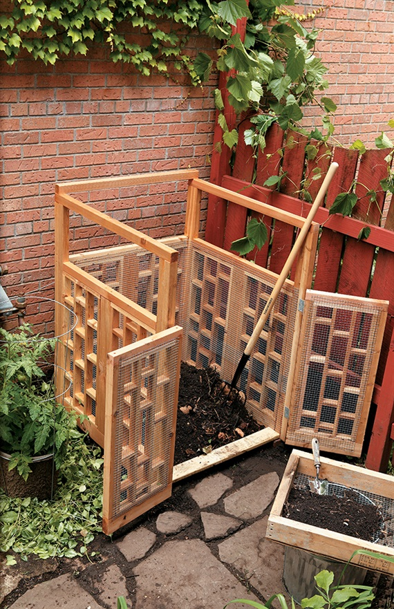 create an attractive compost bin