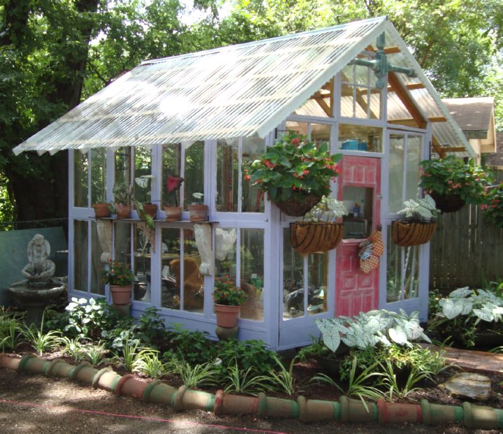 Old Windows Mini Greenhouse Plans House Design And