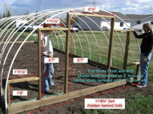 hoop style green house