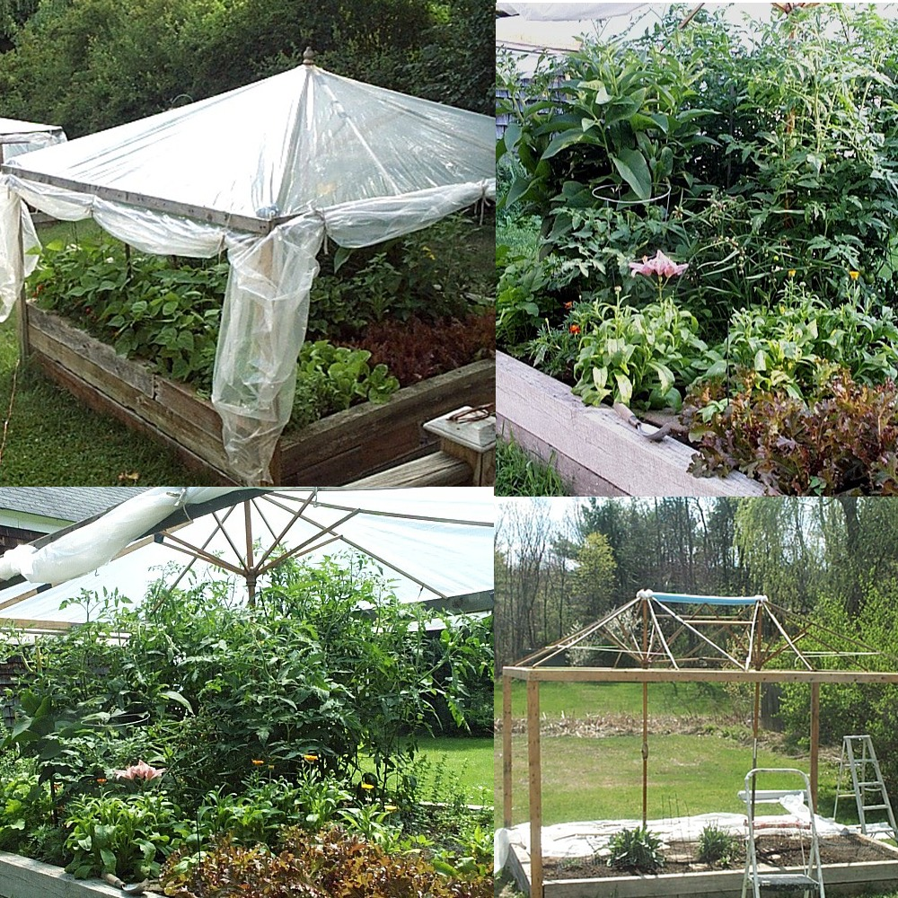 recycled raised garden bed