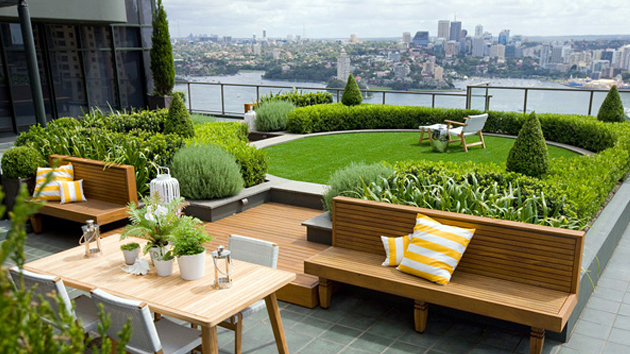 Great Cedar Patio Rooftop Garden