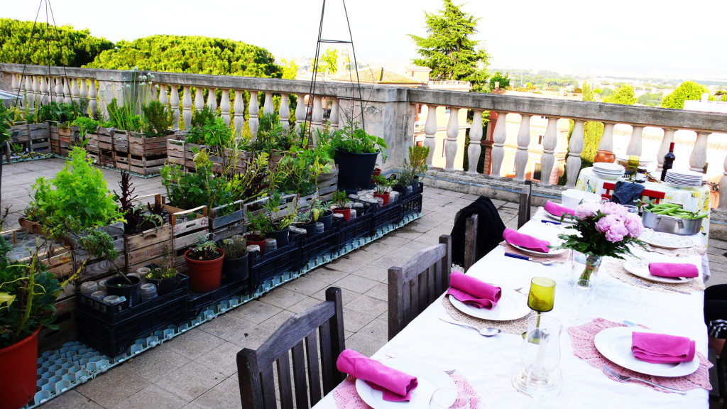 Dining On A Shining Rooftop Garden