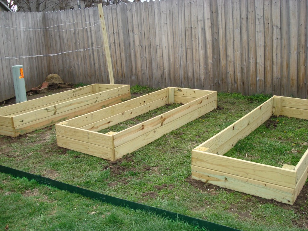 Planks And Pvc Pipe Raised Gardens