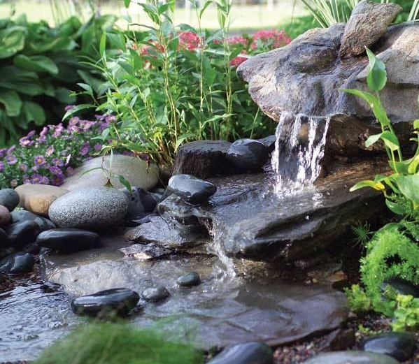 Natural set-up for fountain