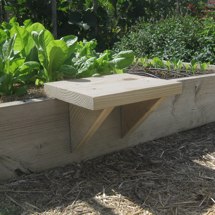 Untreated lumber bed