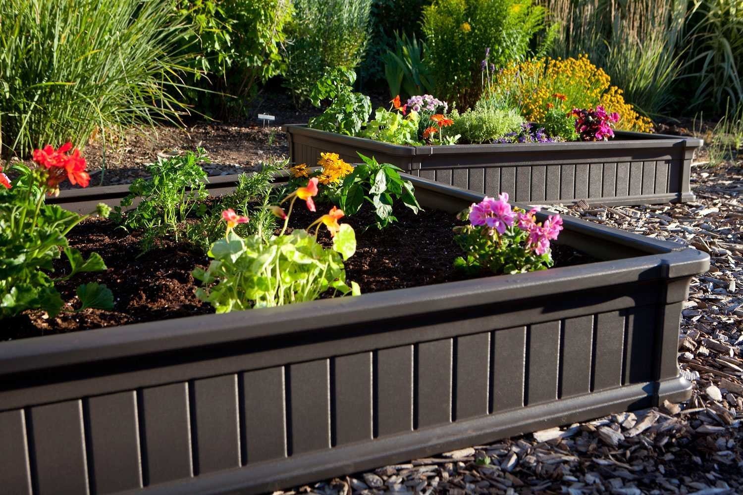 Make a raised garden bed flower