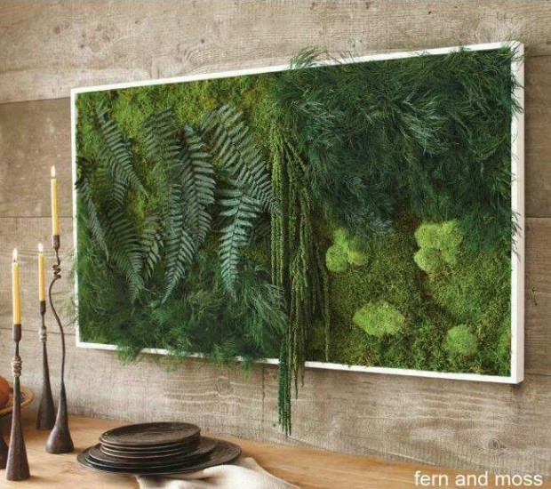 Fern and moss painting