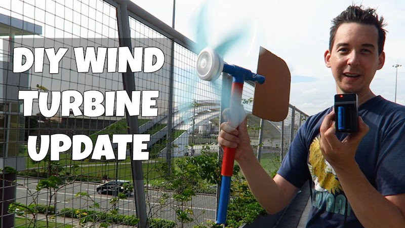 Homemade Wind Turbine From Recycled Ceiling Fan