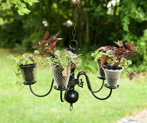 Old lights planter