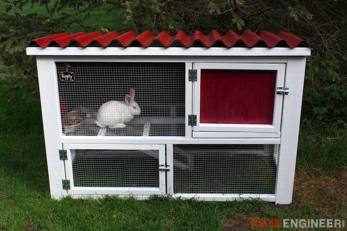 two-story bunny hutch