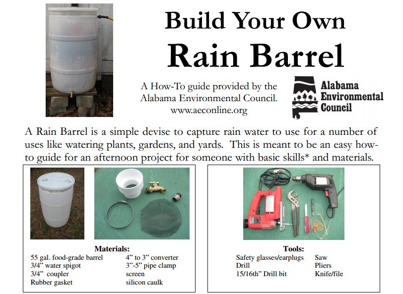 Simplest rain barrel