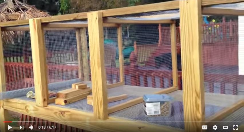 3-Section Rabbit Hutch Plans
