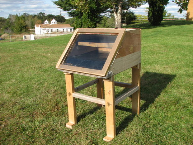 Thin Plywood Solar dehydrator