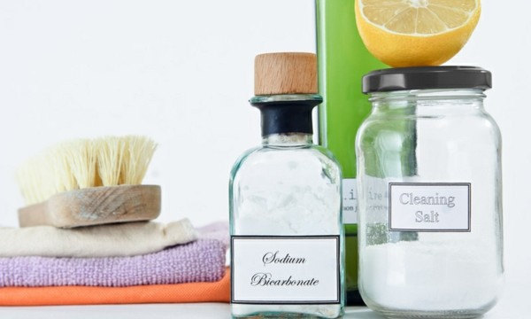cleaning house with food or natural products