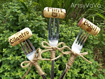Cork and fork markers