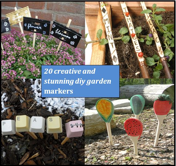 15 Stunning Container Vegetable Garden Design Ideas Tips: 20 Creative DIY Garden Markers And Labels
