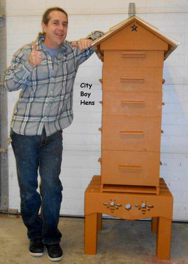 Simple And Easy Bee hive Plan by city boy hens