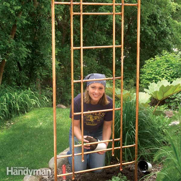 copper garden trellis - Trellis Design Ideas