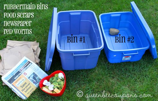 Simple worm composting bin