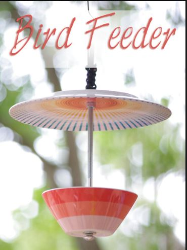 Recycled Bowl and Plate bird feeder plan