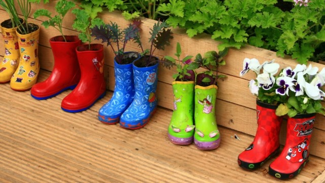 Boots as Planter