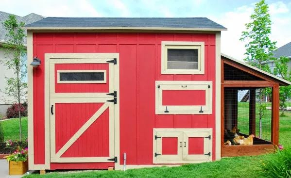 DIY Chicken Coop with Attached Storage Shed