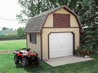 Gambrel garage shed