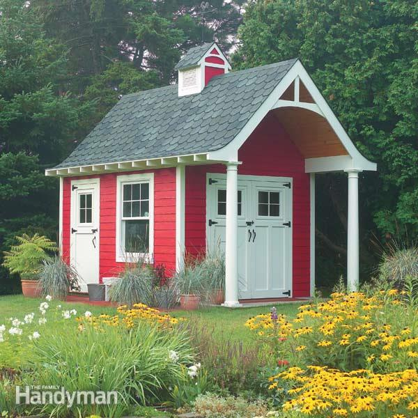Schoolhouse Storage Shed Plan