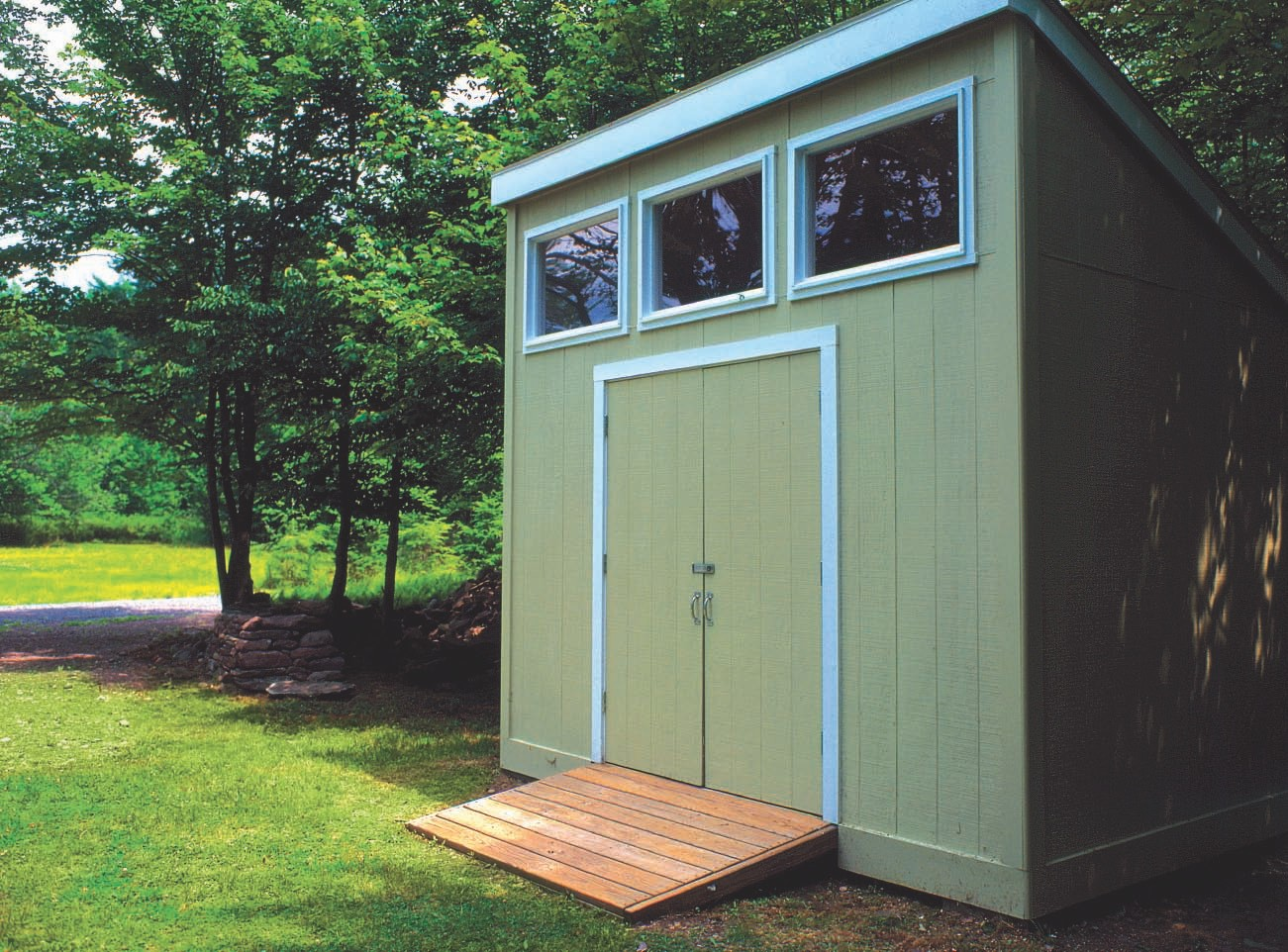Simple Spacious Storage Shed Plan