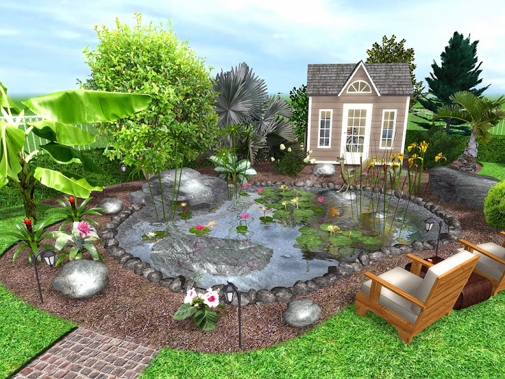 48 Free Garden and Landscape Design Software The SelfSufficient Living Interesting Backyard Design Landscaping