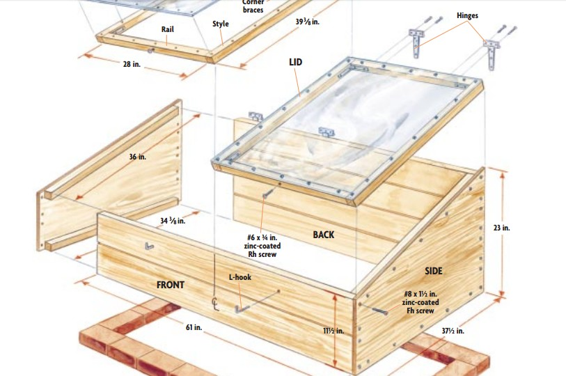 10 Easy Cold Frame Plans To Etend The Growing Season | The Self