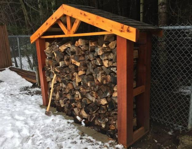 Backyard Firewood Shed