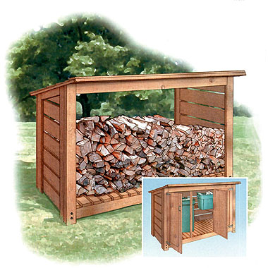 free firewood shed building plans