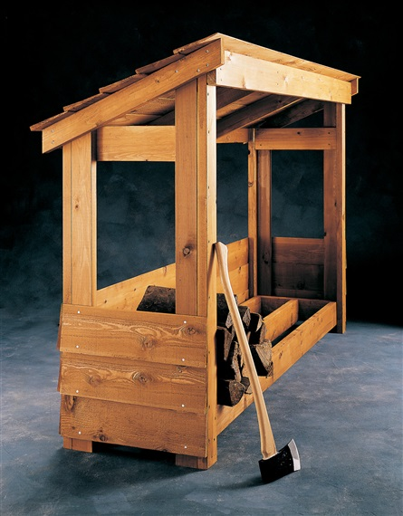 Freestanding Firewood Shed