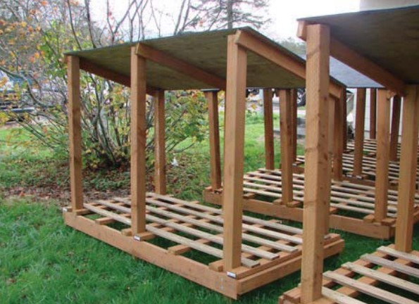 ... this plan to pop a few sheds for a full winter s worth of wood storage