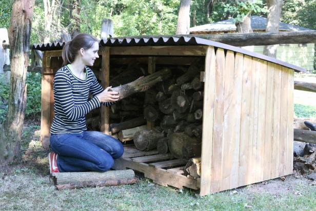 Simple Firewood Shed