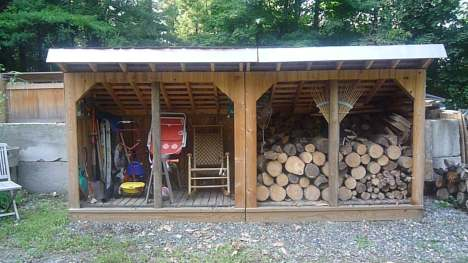 This large and very sturdy firewood shed plan is built to last