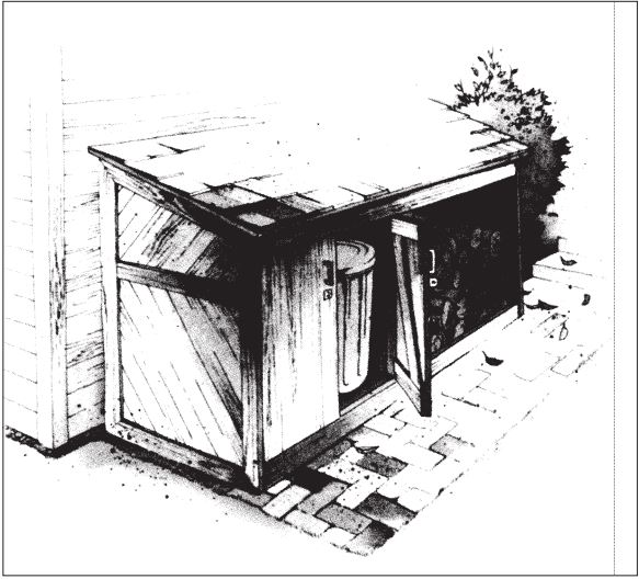 Trash Can and Firewood Shed