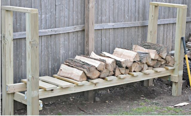 Wood Shed Log Holder