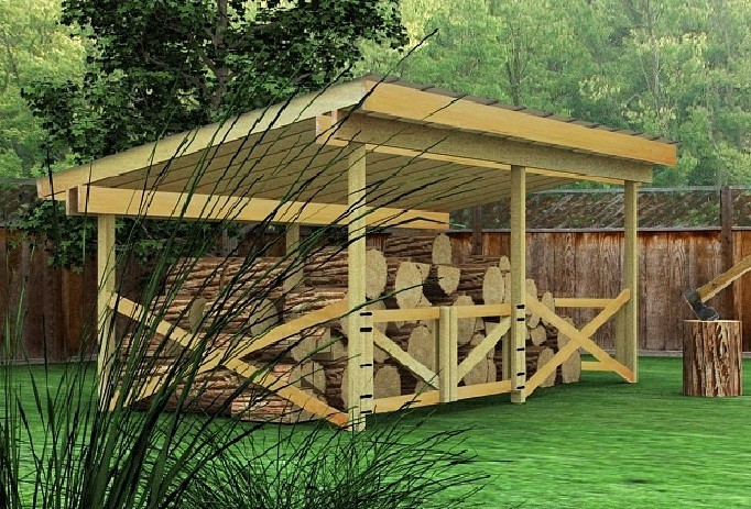 10 Wood Shed Plans to Keep Firewood Dry – The Self ...