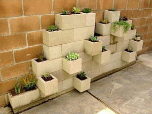 Cinder Block Stacked Garden