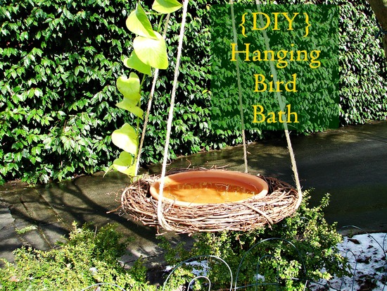 Dangling DIY Bird Bath